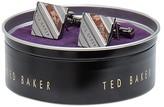 Ted Baker Squared Semi-Precious Striped Cufflinks