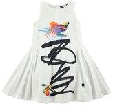 Molo Cassia Graffiti Bird-Print Dress, Sizes 2T/3T-11/12