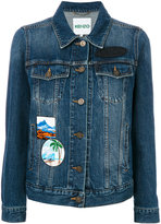 Kenzo denim jacket with patches - women - Cotton - XS