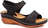 Signature Black Cutout Ankle-Strap Sandal