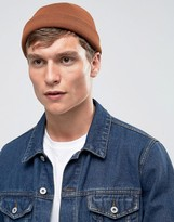 Asos Mini Fisherman Beanie In Rust
