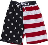 E-Land Kids Flag Shorts (Toddler/Kids) - EK Navy-3T