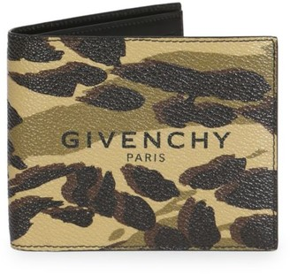 Givenchy Logo Camouflage Billfold Wallet