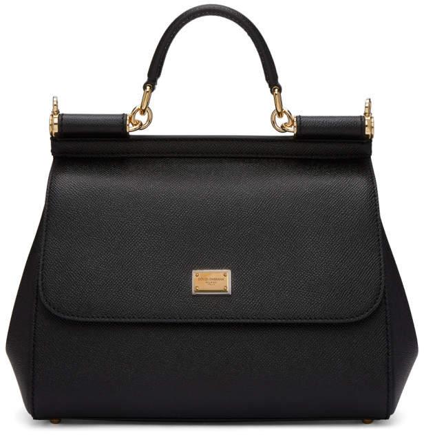 Dolce & Gabbana Black Medium Miss Sicily Bag