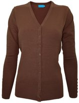 Time Story Ever77 Women's V Neck Regular Fit Long Sleeve Sweater Cardigan/USA/TJ1023/CI-,2XL