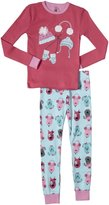 Petit Lem Chic Dogs 2 Piece PJ Set (Toddler/Kid) - Pink-3
