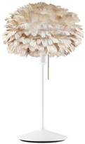 EOS Umage UMAGE - Mini Light Brown Feather With White Stand Table Lamp - Brown/White