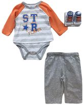 Vitamins Baby Baby Boy Graphic Mock-Layer Bodysuit, Pants & Socks Set