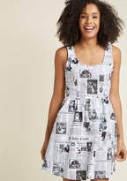 Start Spreading the Mews A-Line Dress in 4X - Sleeveless Fit & Flare Knee Length by Retrolicious from ModCloth