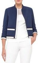 Akris Punto Women's Contrast Trim Wool Gabardine Jacket
