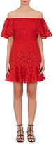 Valentino Women's Cotton-Blend Floral-Lace Minidress