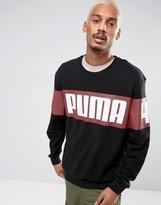Puma Race Crew Boxy Fit Sweatshirt in Black Exclusive to ASOS