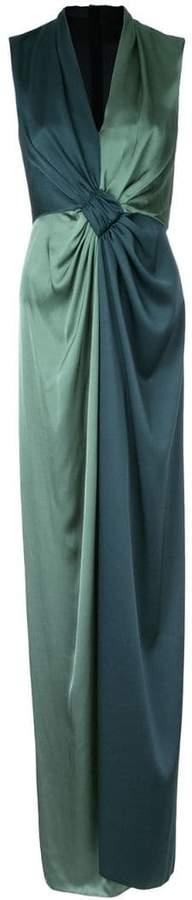 Paule Ka long woven contrast dress