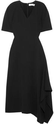 Victoria Beckham Asymmetric Crepe Midi Dress