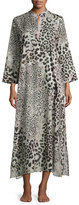 Natori Animal-Print Caftan Lounger, Natural