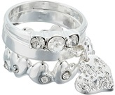 GUESS 3 Piece Ring Set with Charm Drop