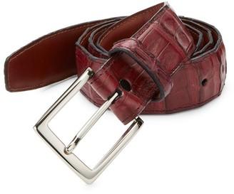 Saks Fifth Avenue COLLECTION Caimen Leather Belt