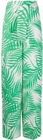 Sara Battaglia palm leaf-jacquard belted trousers