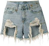 R 13 Sherred high-rise shorts - women - Cotton - 29