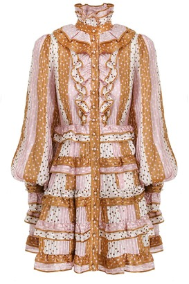 Zimmermann Lucky Ruffled Mini Dress