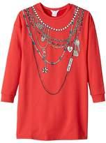 Little Marc Jacobs Essential Trompe L'Oeil Long Sleeve Dress Girl's Dress