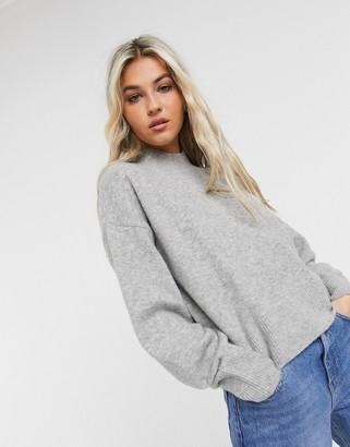 And other stories & mock neck jumper in off grey