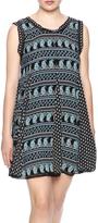 Hazel Printed Mini Dress