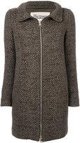 Herno zip-up coat - women - Acrylic/Polyamide/Polyester/Wool - 42