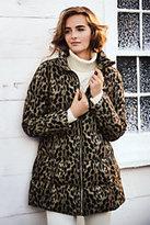 Classic Women's Cheetah Down Coat-Washed Black