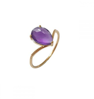Perle de Lune Solo Nova Ring - 18K Gold Amethyst