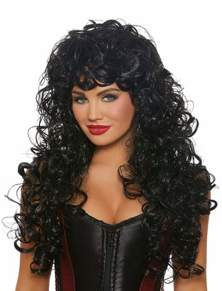 Dreamgirl Women's Long Curly Black Wig One Size