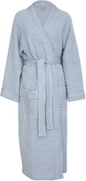 Wallace Cotton Misty Pure Cotton Waffle Robe Blue