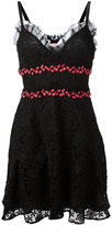 Giamba embroidered sweetheart dress - women - Silk/Polyester - 38