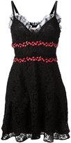 Giamba embroidered sweetheart dress