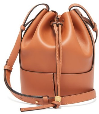 Loewe Balloon Small Drawstring-top Leather Bucket Bag - Tan