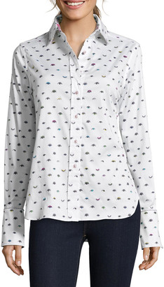 Robert Graham Priscilla Wink-Print Button-Down Shirt