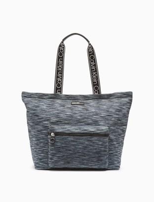 Calvin Klein Vanessa Nylon Striped Tote Bag