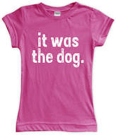 Urban Smalls Fuchsia 'It Was the Dog' Fitted Tee - Toddler & Girls