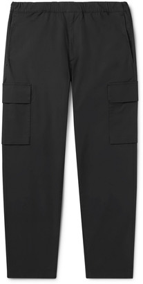 Theory Wilmar Tapered Cotton-Blend Cargo Trousers - Men - Gray