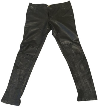 Sara Berman Black Leather Trousers for Women
