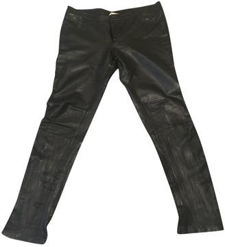 Sara Berman \N Black Leather Trousers for Women