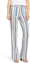 NYDJ Wylie Stripe Linen Blend Trousers