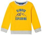 Lands' End Yellow Graphic Print Sweatshirt