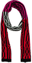Diane von Furstenberg Wool Intarsia Scarf