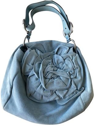 Saint Laurent Blue Suede Handbags