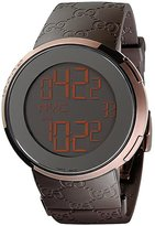 Gucci Men's I 44mm Rubber Band Ip Steel Case Swiss Quartz Watch Ya114209