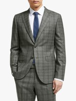 John Lewis & Partners Flannel Check Tailored Suit Jacket, Grey