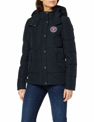 Marc O'Polo Women's 70193 Feather Filling Winter Made of Water-Repellent Material Quilted Jacket with Removable Hood
