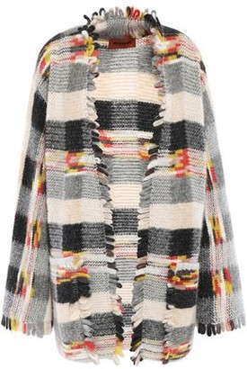 Missoni Frayed Jacquard-knit Cardigan