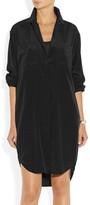 DKNY Oversized stretch-silk crepe de chine shirt dress